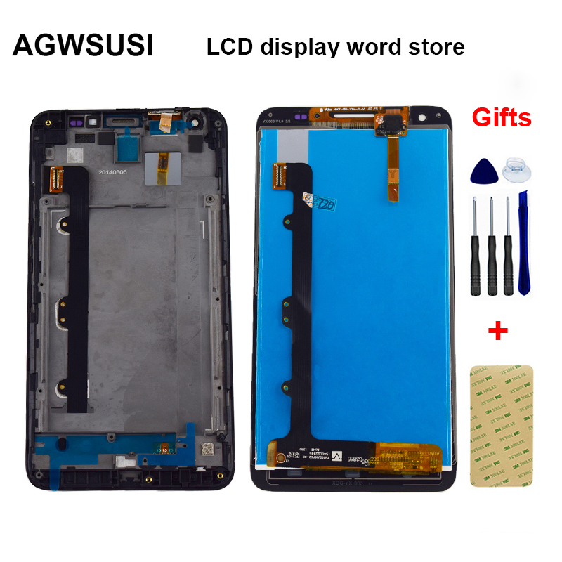 LCD For <font><b>Huawei</b></font> Ascend <font><b>G750</b></font> <font><b>G750</b></font>-T00 <font><b>G750</b></font>-<font><b>U10</b></font> <font><b>G750</b></font>-T01 Honor 3X Glory 4 LCD Display Monitor + Touch Screen Sensor Assembly Frame image
