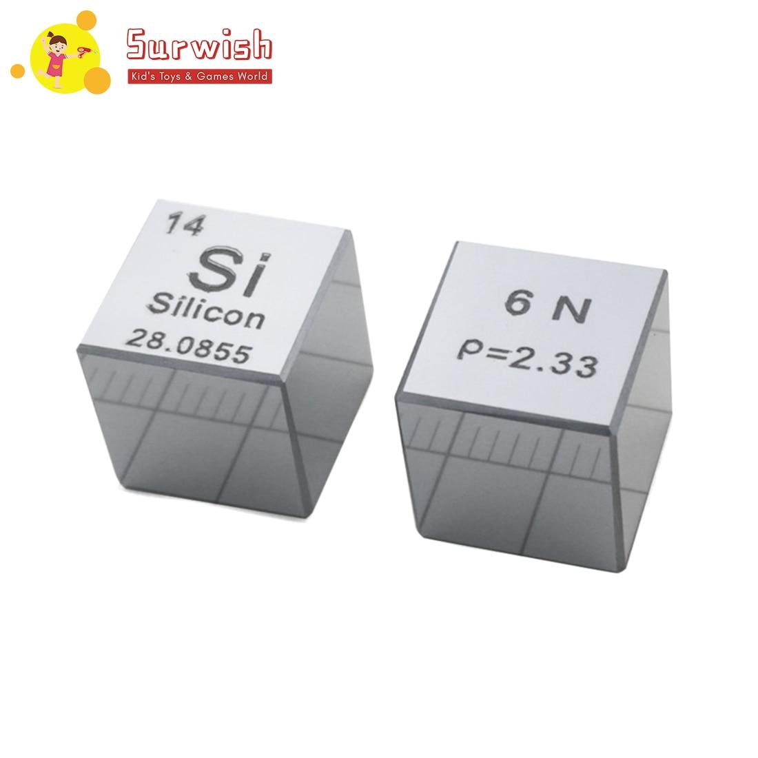 Nouveau 10x10x10mm Surface miroir haute pureté 6N silicium monocristallin Cube Table périodique d'éléments Cube (Si≥6N %)