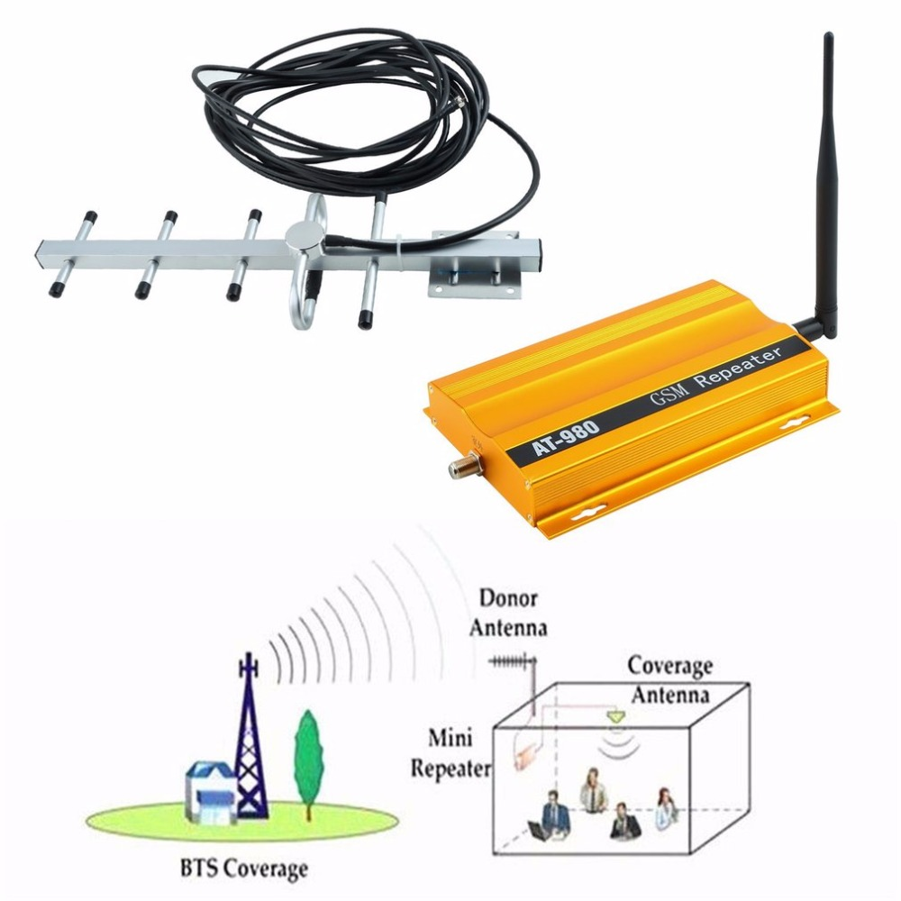 GSM 900MHZ Cellphone Signal Booster / Repeater / Amplifier Signal Amplifier Portable Size Mobile Phone Signal Amplifier Hot Sale