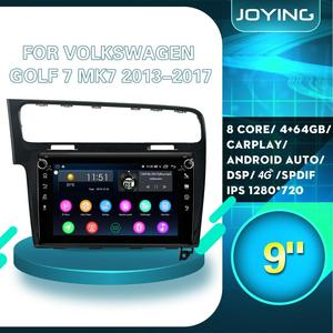 """9""""Android Car Radio Auto Stereo GPS Head Unit For VW Golf VII 7 MK7 2017-2013 GPS Multimedia Player OBD2 Dark Grey/Silver Color(China)"""