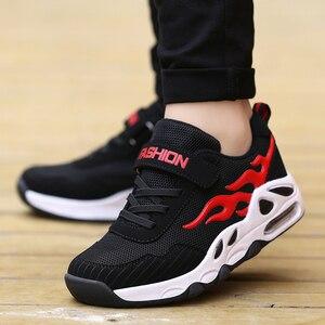 Image 3 - 2019 moda nefes spor ayakkabılar erkek okul ayakkabısı bahar büyük çocuk ayakkabı çocuk koşu ayakkabıları erkekler için boyutu 29 39 B55