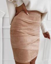Осень/Зима 2020 красивая городская офисная облегающая юбка из