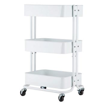 3 Tier Home Kitchen Trolley Utility Cart Storage Table Island Servante D Atelier Office Chariot Chariot Roulant without Handle