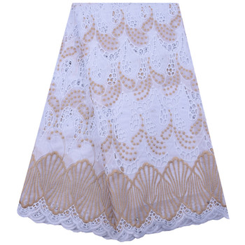 African Lace Fabric 2020High Quality Party Swiss Voile Lace In Seitzerland 5Yards Hollowing Embroidery Nigerian Lace FabricA1851