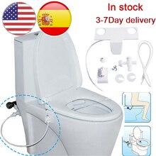 Portable Bidet Attachment Toilet Seat Self-Cleaning Nozzle-Fresh Water Bidet Sprayer Mechanical Wash Flushing Sanitary Device