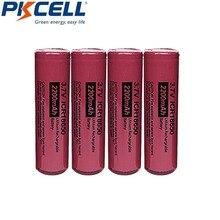 4Pcs 3.7V Li Lion Battery PKCELL ICR 18650 3.7 Volt 2200mAh Rechargeable Battery