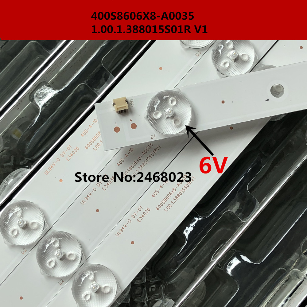 New 100 PCS/lot 5LED 389mm LED Backlight Strip For Phi Lco PH40R86DSGW 400S8605X8-B0040 E34036 40S-4-10 1.00.1.388015S01R V1