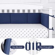 Mamibaby KAMONI Baby Crib Soft Bumper Pads 100% Cotton Padded Bumper Crib Liner Thick Padding Nursery Bed Room Decoration