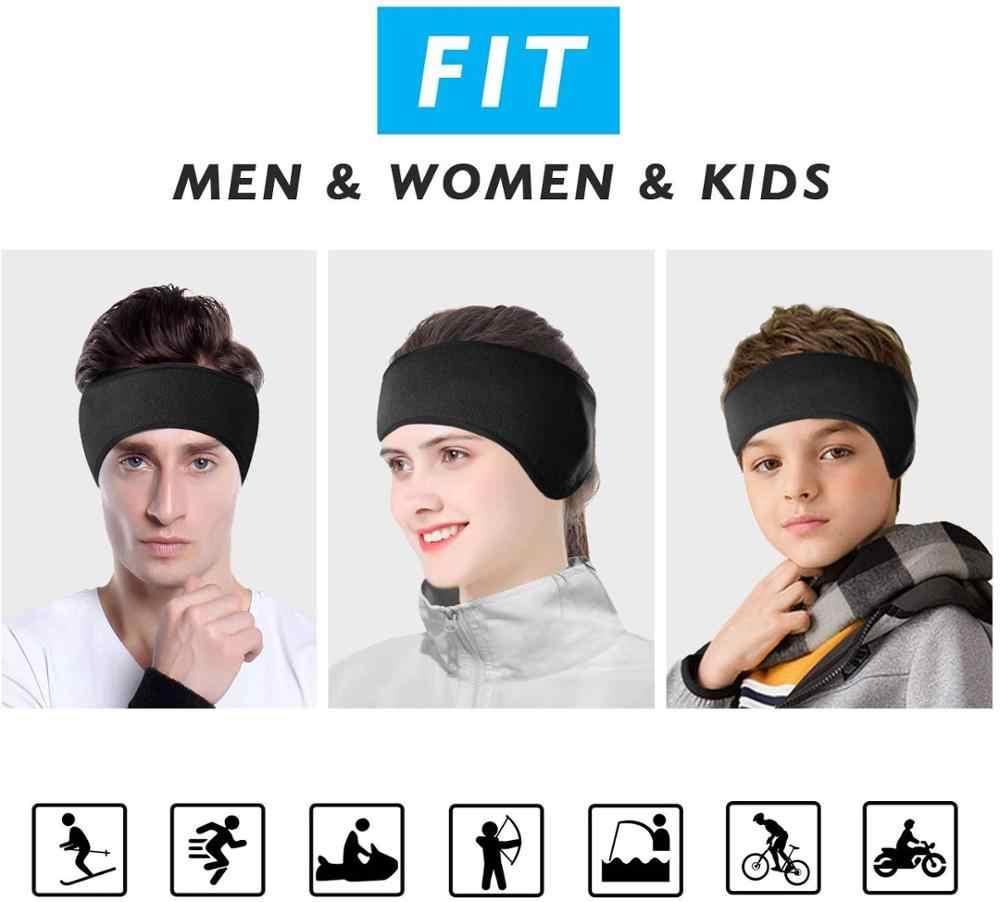 Calentadores de lana de invierno deporte al aire libre diadema hombre/mujer/chico ciclismo esquí entrenamiento Yoga correr montando cálidas diademas orejeras