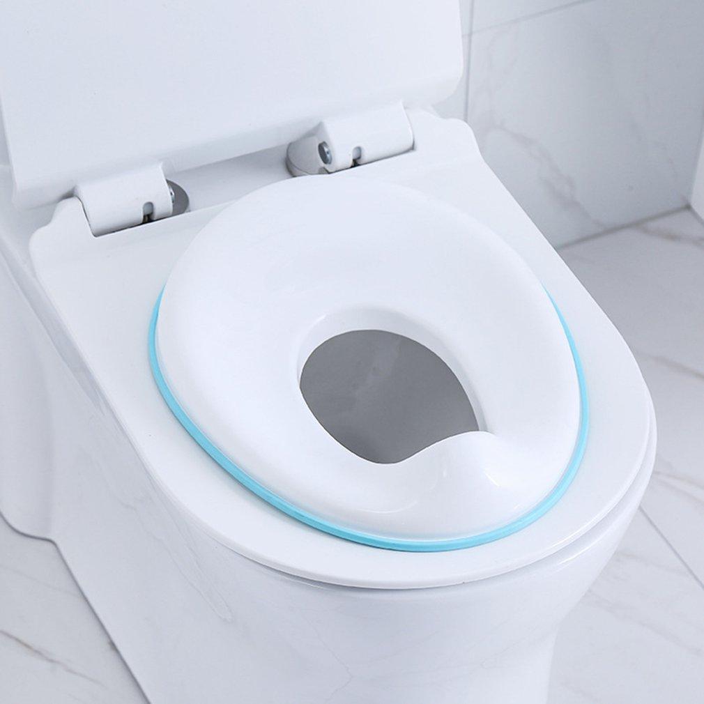 Baby Toilet Potty Training Seat Kids Potty Safe Seat Fits Round & Oval Toilets Non-Slip With Splash Guard Infant Potty Cushion