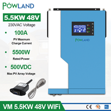 Solar-Inverter MPPT Sine-Wave 100A 48VDC 5500W 500VDC 220V Pure AC with Wifi Pv-Input