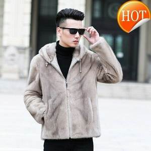 Hooded Coat Jacket Winter Outwear Shearling Autumn Thick Casual Fashion Mink-Fur Warm