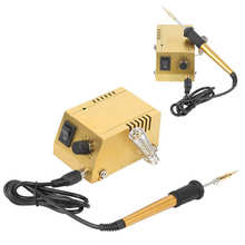 Soldering Station Mini Soldering Station Constant Temperature Electric Iron Adjustable 10-Gear (EU Plug 250V 6A) Hot Air