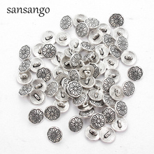 20pcs Round Metal Buttons Sewing Tools Decorative Button Scrapbooking Garment DIY Materials Apparel Accessories Ancient Silver 25pcs anchor urea button with four eye buttons retro fire button diy crafts clothing sewing accessories
