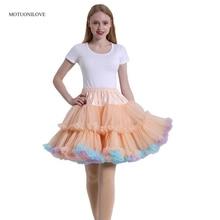 Short Petticoat Ball-Gown Underskirt Crinoline Dress Tutu Rockabilly Tulle Slip 50s Vintage