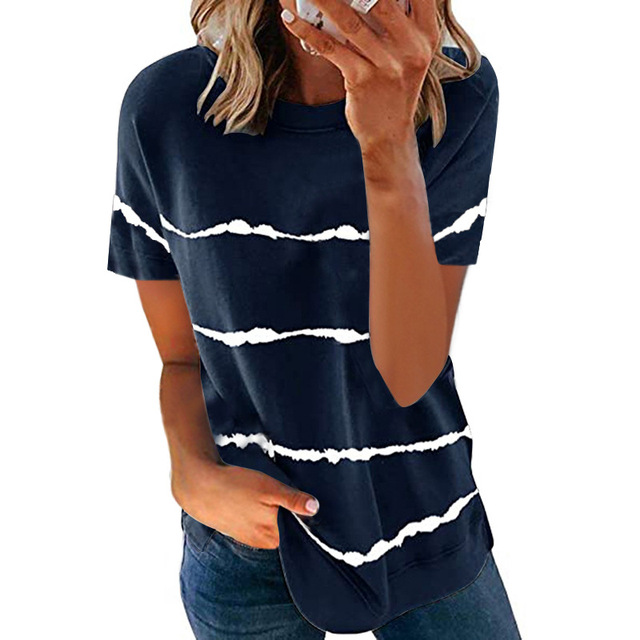 Свободная женская футболка модного покроя, коллекция лето 2021 4