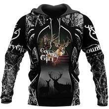 3D caza de ciervos estampada por completo sudaderas con capucha hombre Harajuku prendas de vestir cremallera Jersey sudadera Unisex Casual chaqueta de chándal con capucha