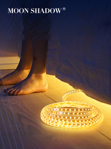 MOONSHADOW Led Light Strip Flexible Neon Sign Waterproof Multi Color 5050/2835 For Room Light 144/m Fita Led Strip 220V EU Plug