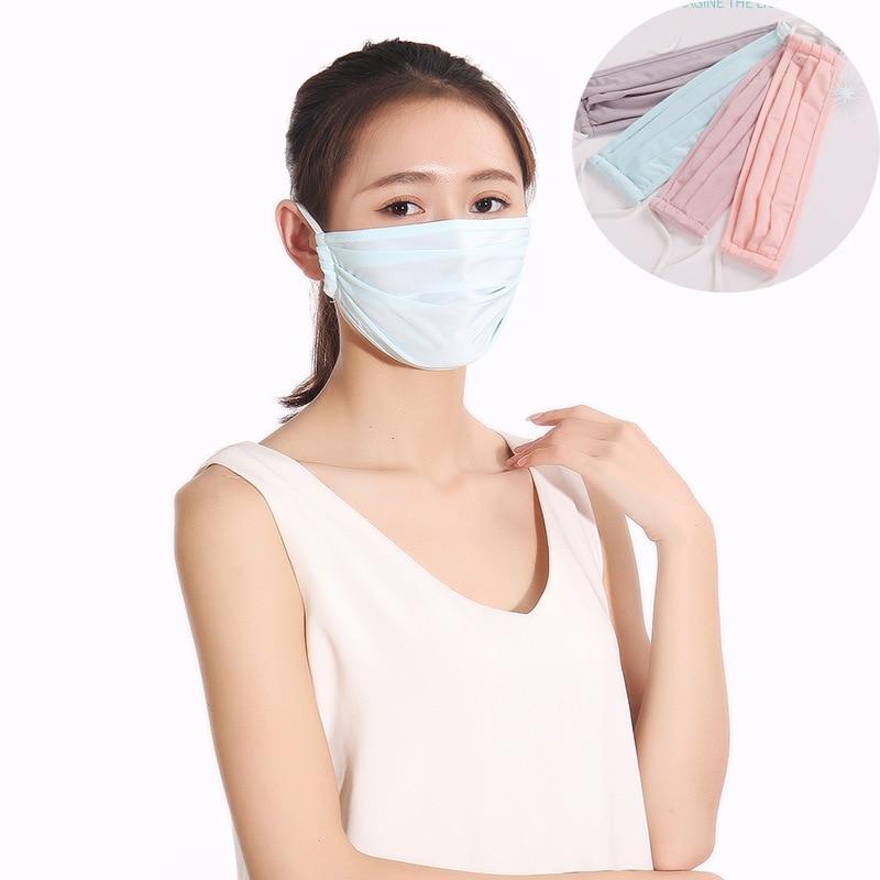 Festive Party Supplies Respirator Keep Warm Cotton Masks Anime Cotton Lucky Anti Dust Unisex Fashion Blue Pink