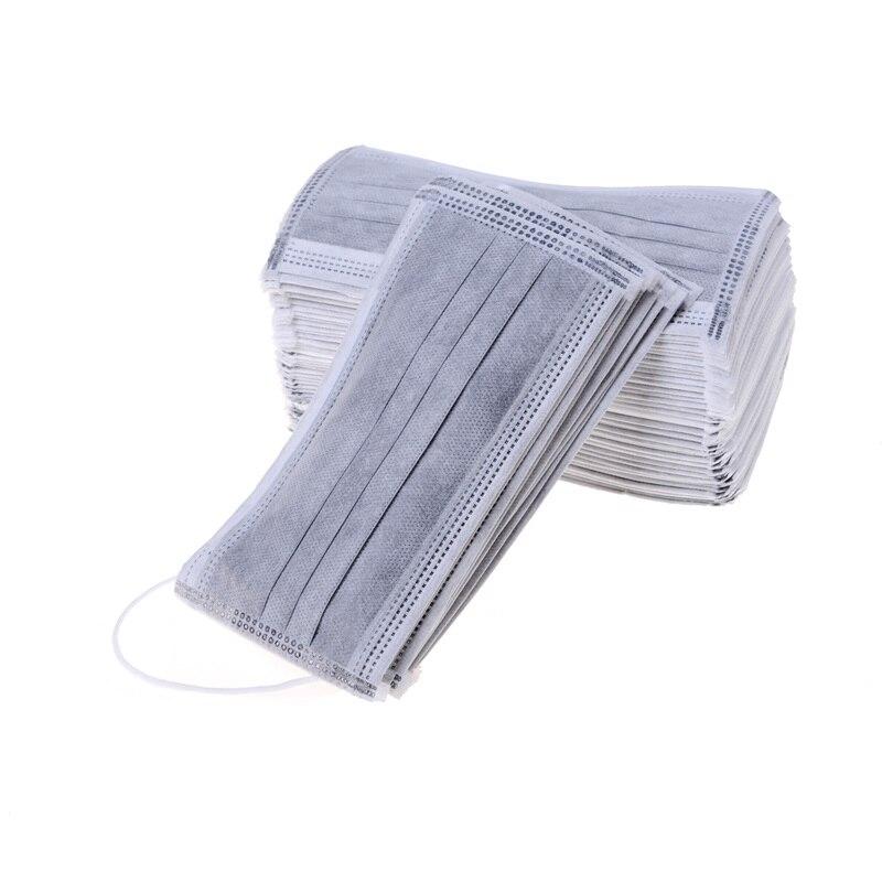 50 шт./упак. мульти Слои защита от пыли для лица с активированным углем маска для полости рта промышленности хирургические