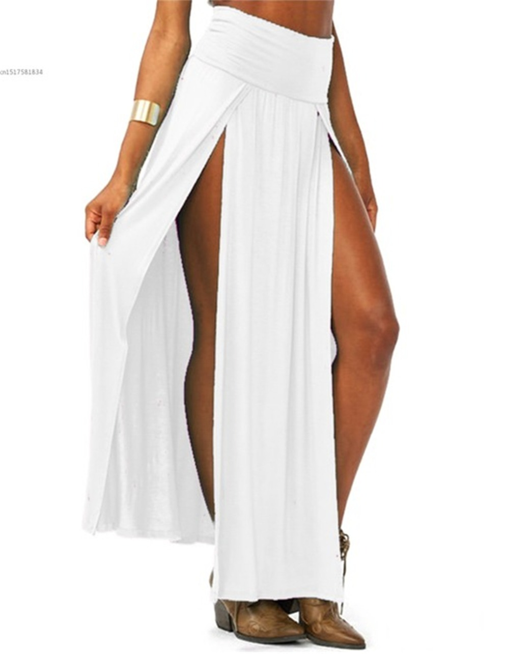 2019-New-Arrival-High-Waisted-Sexy-Womens-Double-Slits-Summer-Solid-Long-Maxi-Skirt-Wholesale-51.jpg_640x640 (5)