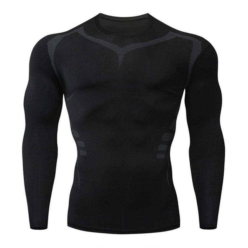 running - New Running Shirt Men Skull Sport T Shirt Gym Shirt Men Compression Tight Fitness Top Bodybuilding Tshirt Rashgard Soccer Jersey