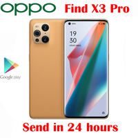 New Original OPPO Find X3 Pro 5G Cell Phone 12G RAM 256G ROM 6.7inch Snapdragon 888 65W SuperVOOC 30W Air VOOC 50.0MP Camera NFC 1