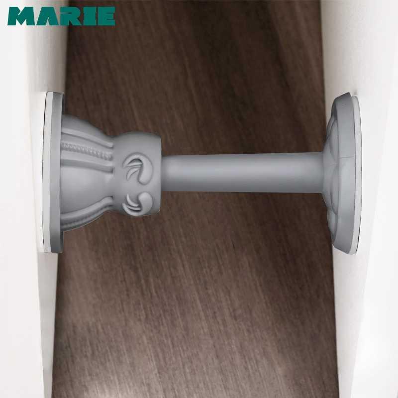 MARIE Silicone Keo Tự Chặn Cửa Không Khoan Dán Tường Bảo Vệ Ẩn Cửa Ngăn Đựng
