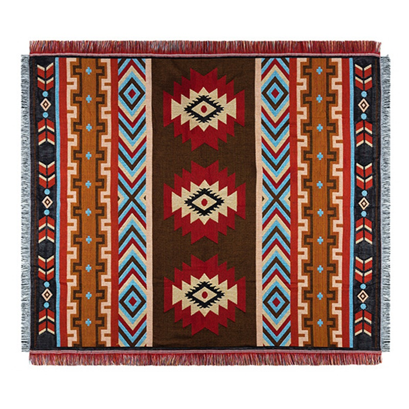 Multi Function Ethnic Style Vintage Blanket Indian National Creative Geometric Totem Tapestry Sofa Blanket Bed Linen Table Cloth|Decorative Tapestries| |  - title=