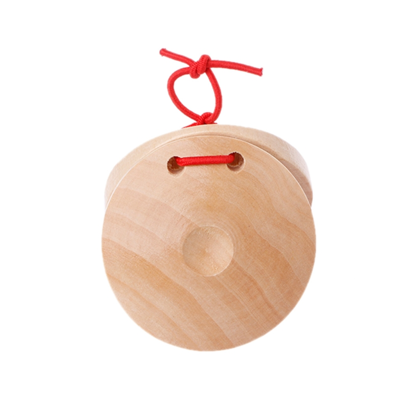 Wooden Castanets Wood Percussion Flamenco Musical Instrument Kids Children Toys Y51D