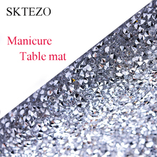 SKTEZO  2019 New Full-diamond Nail Makeup Tablecloth Brand Design Table Mat Manteles Para Mesa Rectangulares En Tela decoration