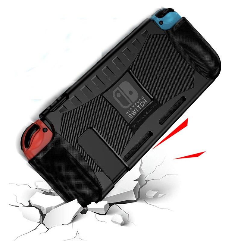 Silicone Tpu Case Voor Nintendo Switch Shock Proof Bescherming Cover Shell Ergonomische Handgreep Voor Nintend Schakelaar Ns Accessoires