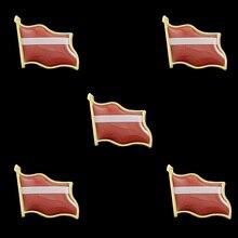 5PC/Set Latvia Single Waving Multicolor Flag Brooch Epoxy Lapel Pins Badge 5pcs panama souvenir epoxy multicolor waving national flag lapel pins and brooch fashion badge medal decorations