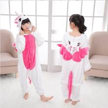 Christmas Pajamas Unicorn Kids Animal Licorne Onesies Winter Sleepwear Children Pajamas for Boys Girls Costume Baby Pyjamas Kids(China)