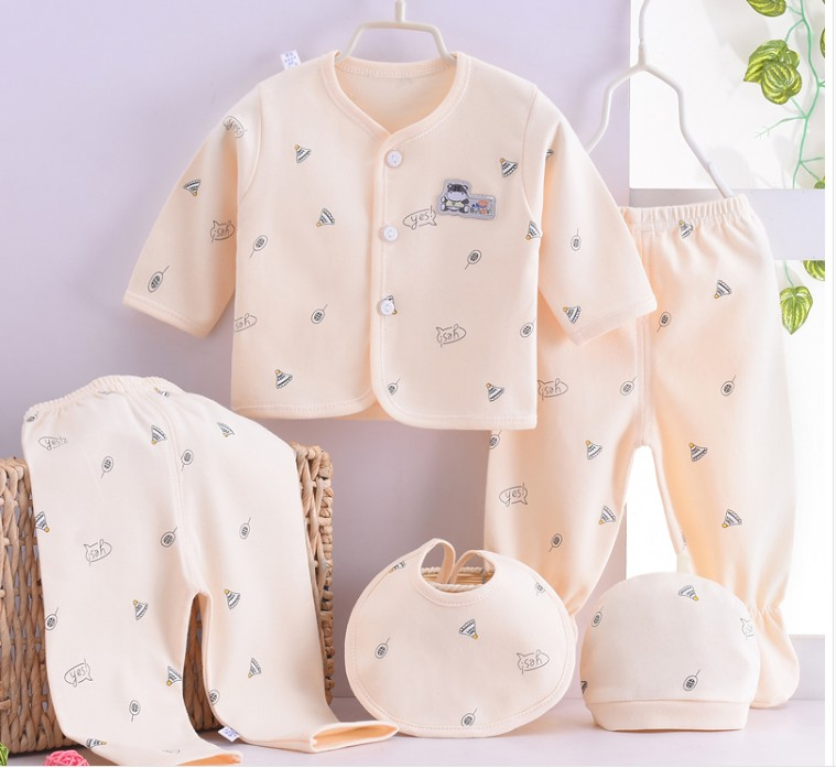 (5pcs/set)cheapest Newborn Baby 0-3M Clothing Set Brand Baby Boy/Girl Clothes 100% Cotton Cartoon Underwear,Free Shipping NT042