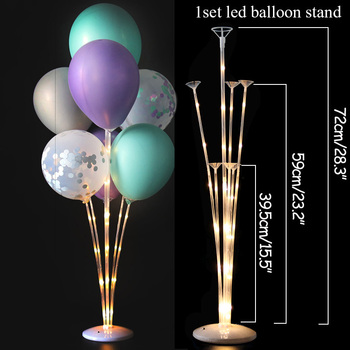 LED Light Air Balls Balloon Stand Column Wedding Table Decoration Balloons Holder Christmas Baloon Baby Shower Birthday Party 13