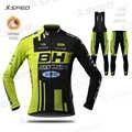 חורף רכיבה על אופניים מעיל חליפת BH ארוך שרוול פרו צוות ג 'רזי סט אופני בגדי גברים תרמית צמר MTB אחיד Ropa Ciclismo hombre