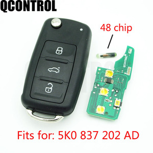 QCONTROL 3 BTCar Remote Key 433 MHz for VW/VOLKSWAGEN Beetle/Caddy/Eos/Golf/Jetta/Polo/Scirocco/Tiguan/Touran/UP 5K0 837 202 AD
