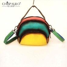 Дизайнерская сумка женская новая натуральная кожа женская сумка модная сумка на плечо ShellP atchwork Разноцветные сумки bolsa feminina