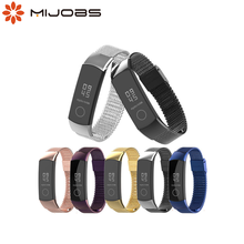 Mijobs Milanese Metal Strap for Huawei Honor Band 4 Strap Smart Accessories Stainless Steel Wristband for Honor Band 5 Bracelet
