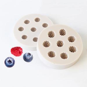 Силиконовая 3D-форма для торта с черникой и малиной, инструменты для украшения тортов, мыльная форма, шоколадный кондитерский инструмент, ку...