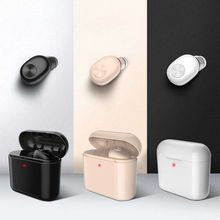 New Invisible Wireless Bluetooth Earphone Mini Headset for phone with 700 mAh Charging box Portable