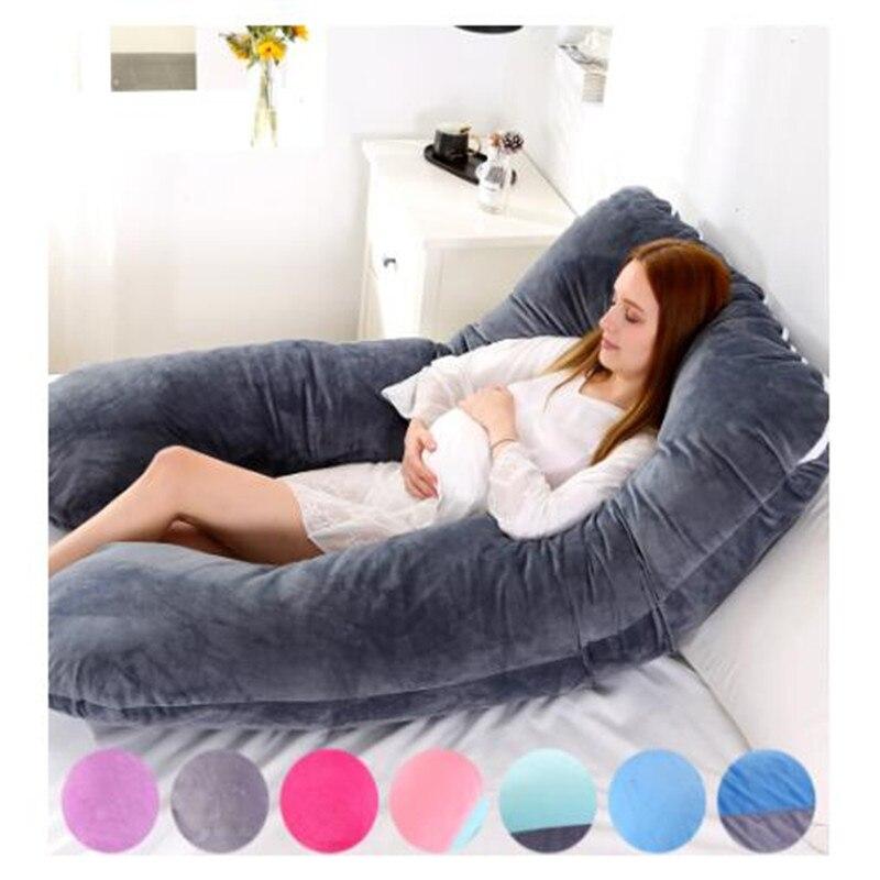 Multifunktion Schwangere Frau Kissen U-Form Kissen Seite Schlafen Nickerchen
