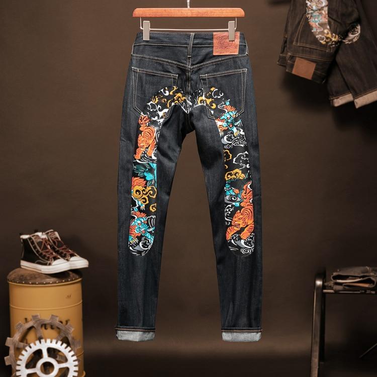 2020 Tide Brand Evisu New Fashion Leisure Men's Jeans Top Quality Breathable Men's Pants Casual Mid Waist Men's Straight Trouser