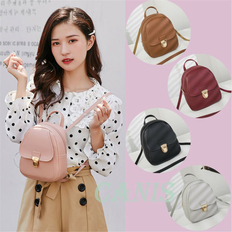 2020 Mini Backpack Women PU Leather Shoulder Bag For Teenage Girls Kids Fashion New Small Bagpack Female Ladies School Backpack