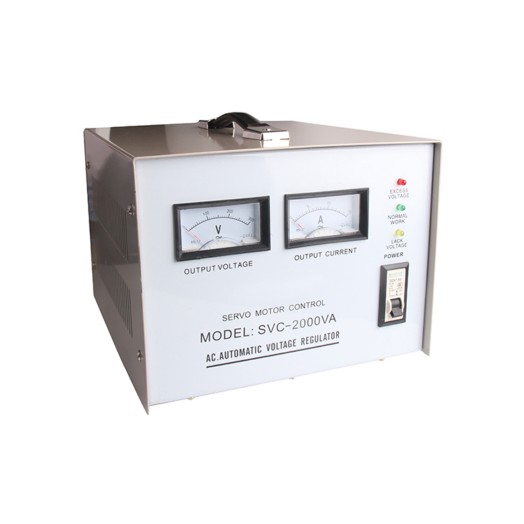 2000va single phase ac voltage regulator servo motor type automatic voltage regulator SVC-2000