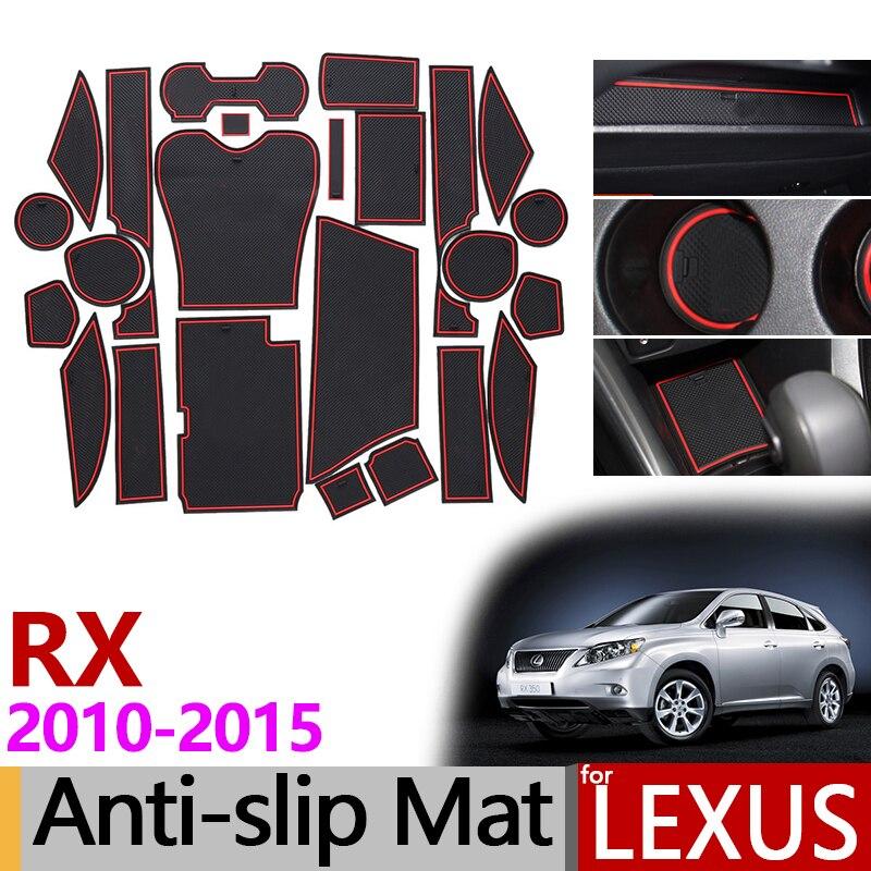 Anti-Slip Gate Slot Mat Rubber Coaster For Lexus RX RX270 RX350 RX450h 2010 2012 2013 2014 2015 270 350 450h Accessories Sticker