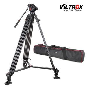 Image 1 - VILTROX VX 18M 1.8M Professional แบบพกพา Heavy Duty Stable อลูมิเนียมลื่น Video + ขาตั้งกล้องไฮดรอลิกหัววิดีโอกล้อง DV