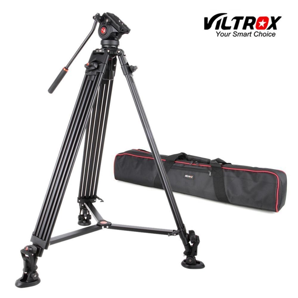 Viltrox VX-18M 1.8M Portátil Profissional Heavy Duty Estável de Alumínio Não-deslizamento de Vídeo + cabeça do Tripé Hidráulico para Vídeo câmera DV