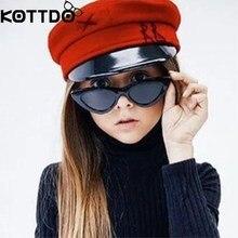 KOTTDO Fashion Cat Eye Sunglasses Kids Retro Plastic Brand Designer Vintage Baby